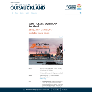Win tickets to EQUITANA Auckland