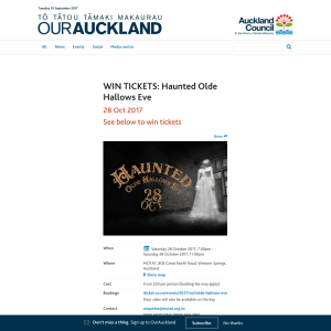 Win tickets to Haunted Olde Hallows Eve