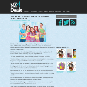 Win tickets to Hi-5 House of Dreams Auckland show