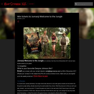 Win tickets to Jumanji Welcome to the Jungle
