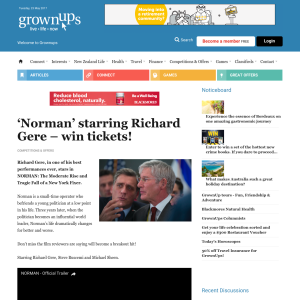 Win tickets to Norman starring Richard Gere