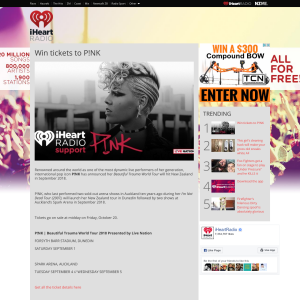 Win tickets to P!NK