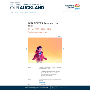 Win tickets to Peter and the Wolf
