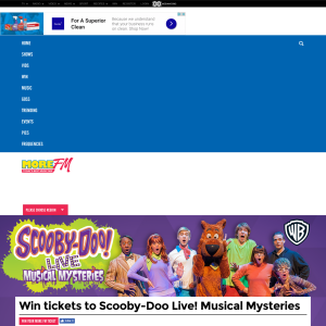 Win tickets to Scooby-Doo Live! Musical Mysteries