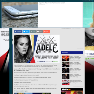 Win tickets to see Adele live in Houston Texas