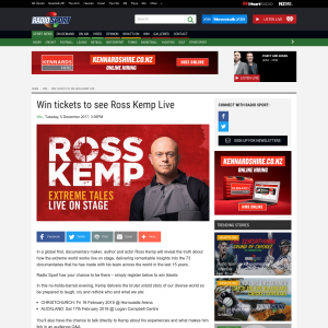 Win tickets to see Ross Kemp Live