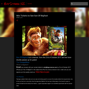 Win Tickets to See Son Of Bigfoot