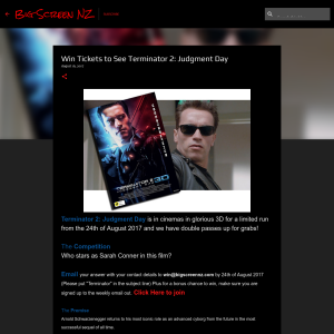 Win Tickets to See Terminator 2: Judgment Day