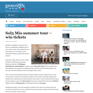 Win tickets to Sol3 Mio summer tour
