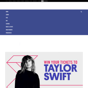 Win tickets to Taylor Swift LIVE in 2018