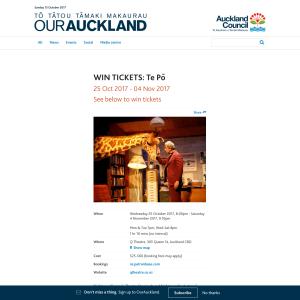 Win tickets to Te Po
