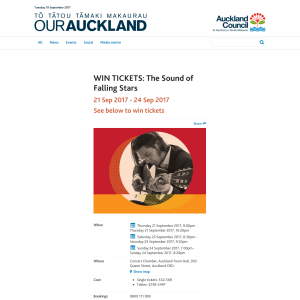 Win tickets to The Sound of Falling Stars