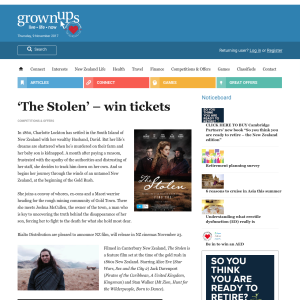 Win tickets to 'The Stolen'