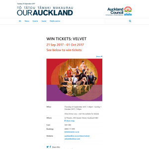 Win tickets to Velvet