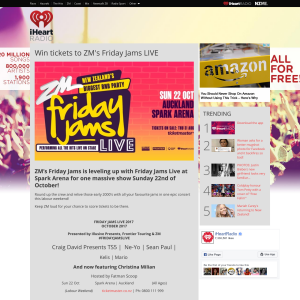 Win tickets to ZM's Friday Jams LIVE