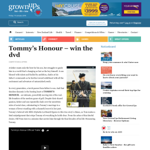 Win Tommy's Honour dvd