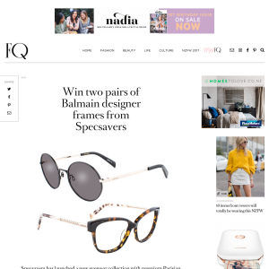 Win two pairs of Balmain designer frames from Specsavers