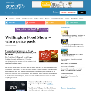Win Wellington Food Show prize pack