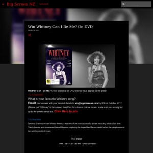 Win Whitney Can I Be Me? On DVD