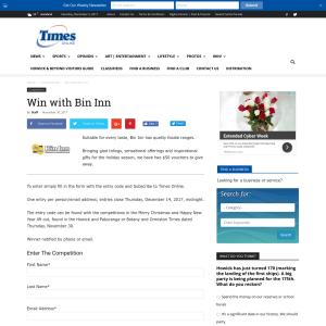 Win with Bin Inn