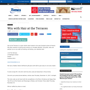 Win with Hair at the Terraces