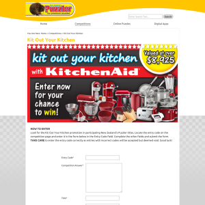 Win with Kitchen Aid