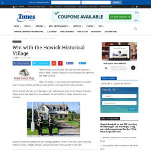 Win with the Howick Historical Village