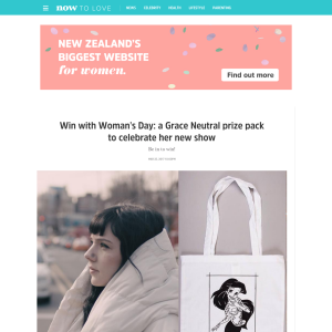 Win with Woman's Day: a Grace Neutral prize pack to celebrate her new show