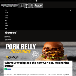 Win your workplace the new Carl's Jr. Moonshine Burger